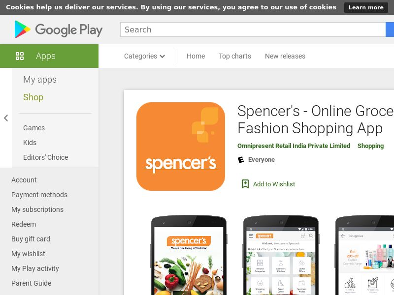 Spencer's - Online Grocery & Fashion Shopping App