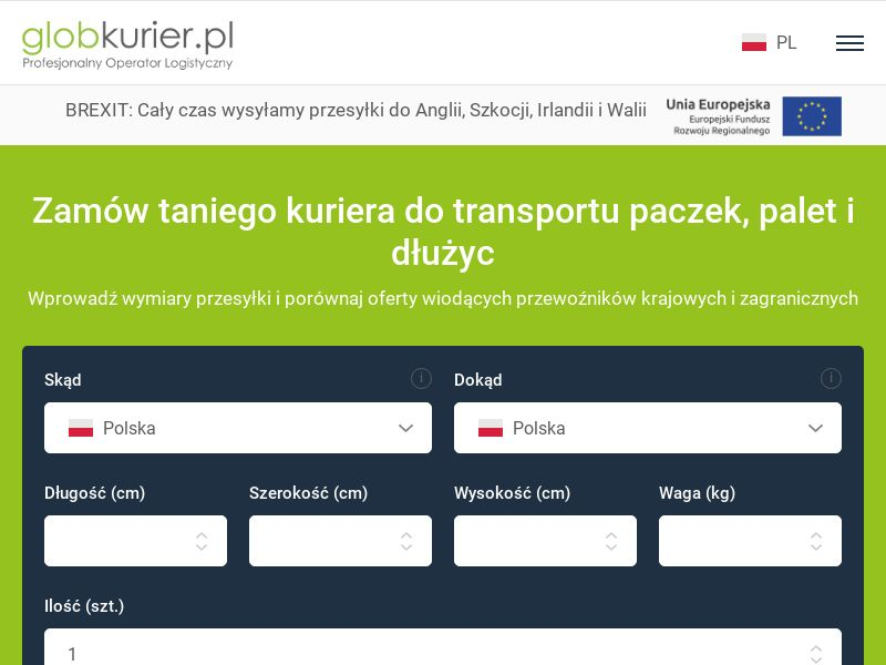 Globkurier (PL), [CPS], Transport and Travel, Transport, Services, Online, Sell, holiday