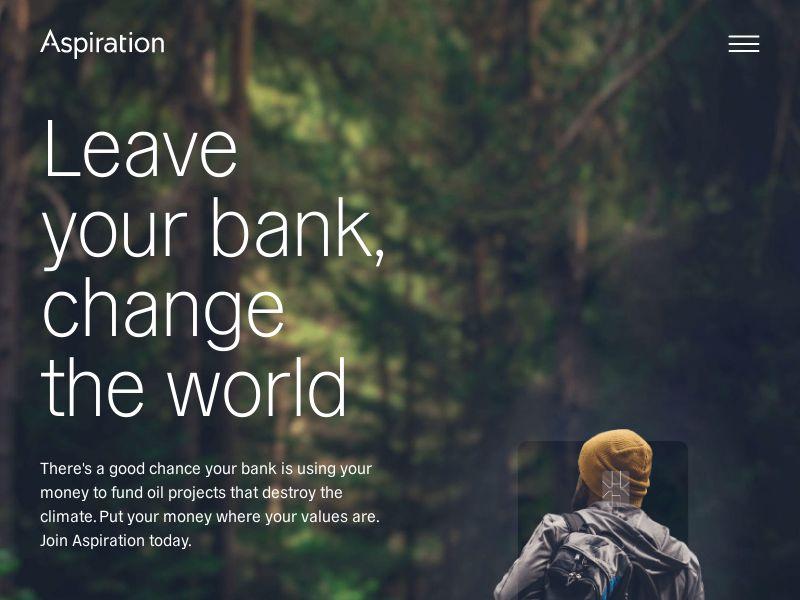 Aspiration - Spend & Save ($100 Promotion) - Mobile and Desktop - US - Incent OK