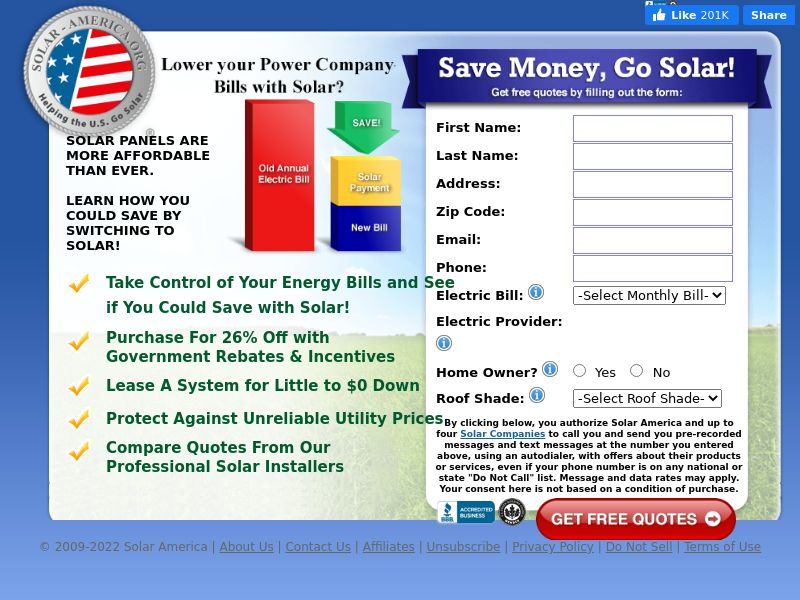 FOR 20868: 2 Energy - Solar-America.org - Solar America (US) - CPC - Verify for 20868