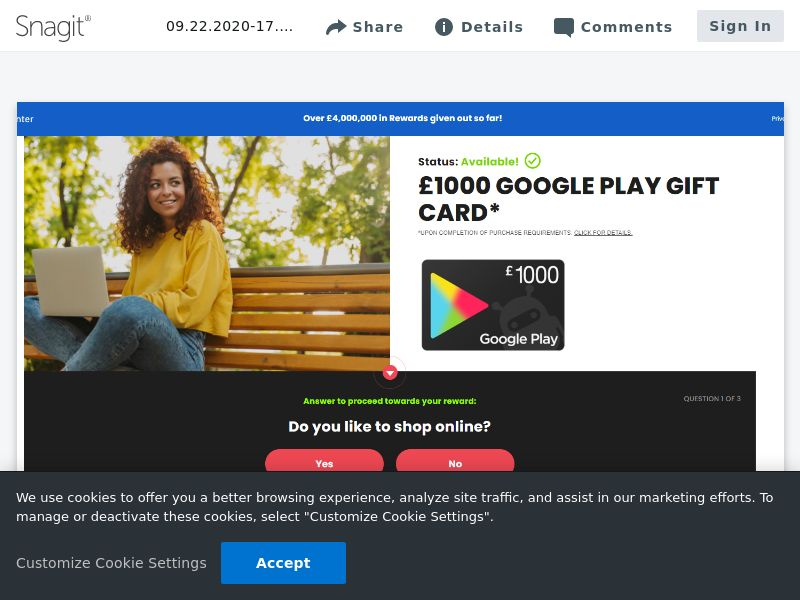 Google Play £1000 - SOI | UK