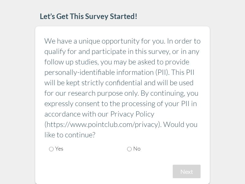 Diapers and Pull-Ups Survey | US - Incent