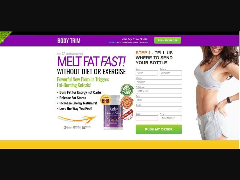 Keto Body Trim Nature Slim - Diet & Weight Loss - SS - NO SEO - [IE]