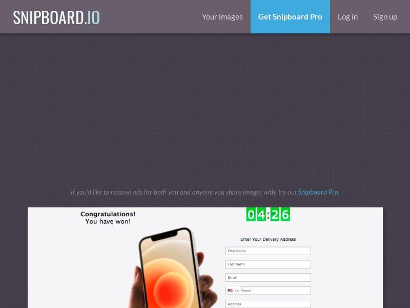 LotsPrizesToday - iPhone 12 (Orange May) US - CC Submit