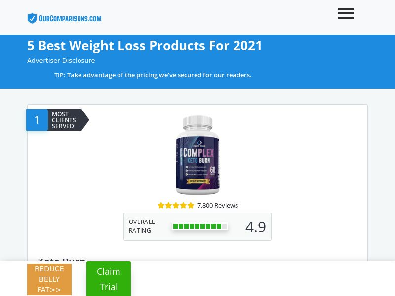 OurComparisons.com - 5 Best Weight Loss Products For 2021