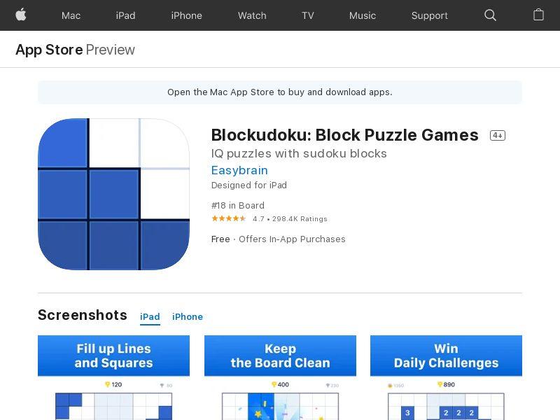 Blockudoku - Block Puzzle Games (DE) (CPI) (IDFA) (Personal Approval)