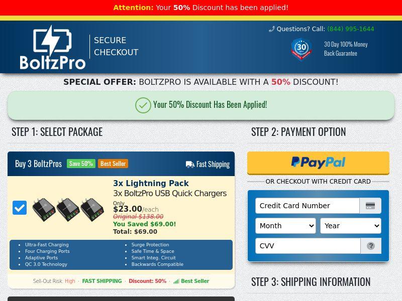 Boltz Pro SS - US/CA (No Brand Bidding)