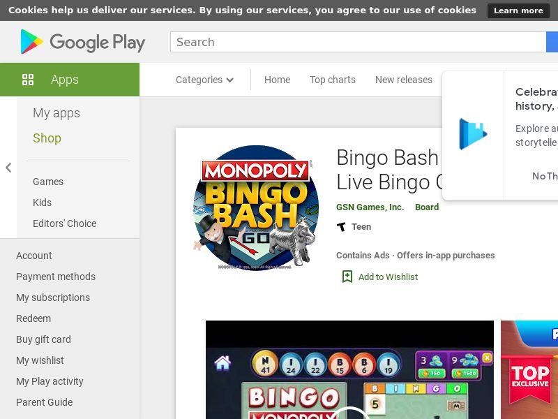 Bingo Bash - Android CPE - CA