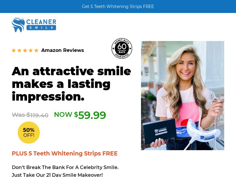 Cleaner Smile - LED Kit [US] (Email,Social,Banner,Native,Push,SEO,Search) - CPA