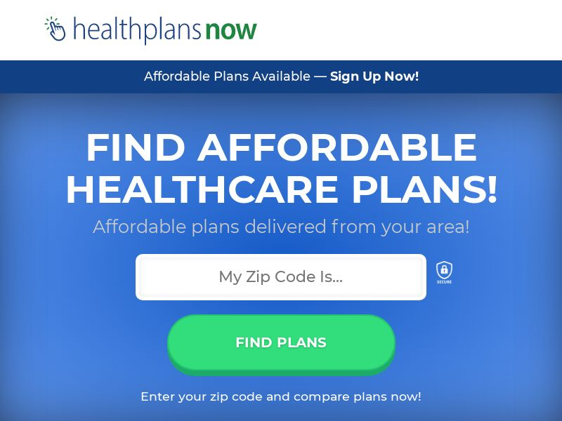 View Health Plans Now V2 (Display Only) - CPL {See State/Day Restrictions}