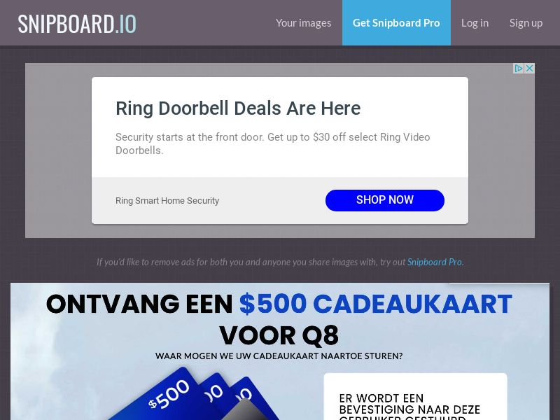 CoreSweeps - Q8 Fuel Giftcard 500 USD NL - CC Submit