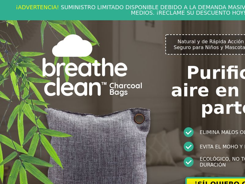 Breathe Clean Charcoal Bags LP01 (SPANISH)