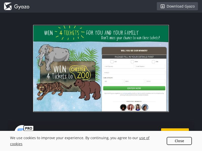Win Chester Zoo Tickets (UK) (CPL) (Incent)