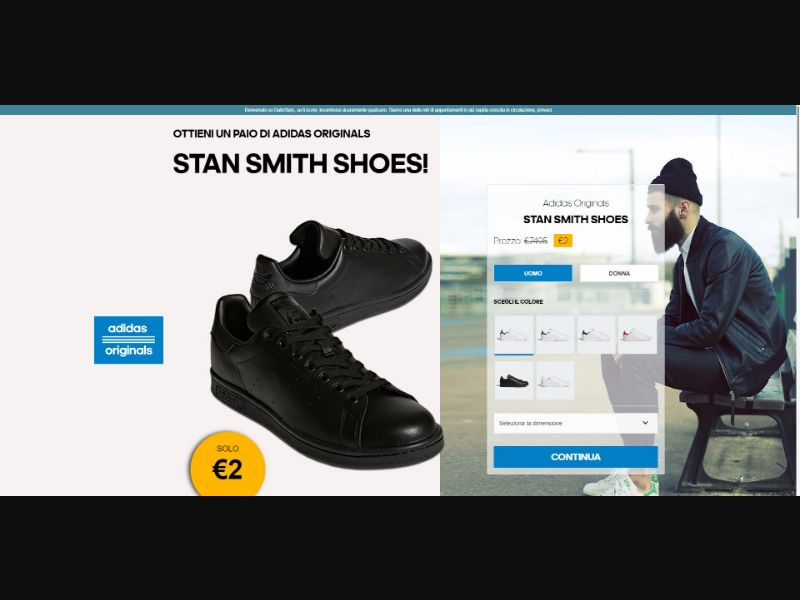 L'Amour Toujours Adidas Originals Stan Smith Shoes - Sweepstakes & Surveys - Trial - [IT]