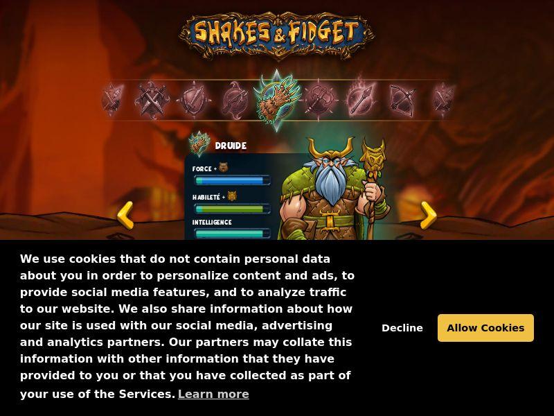 Games - Shakes & Fidget - Browser Game - SOI (FR)