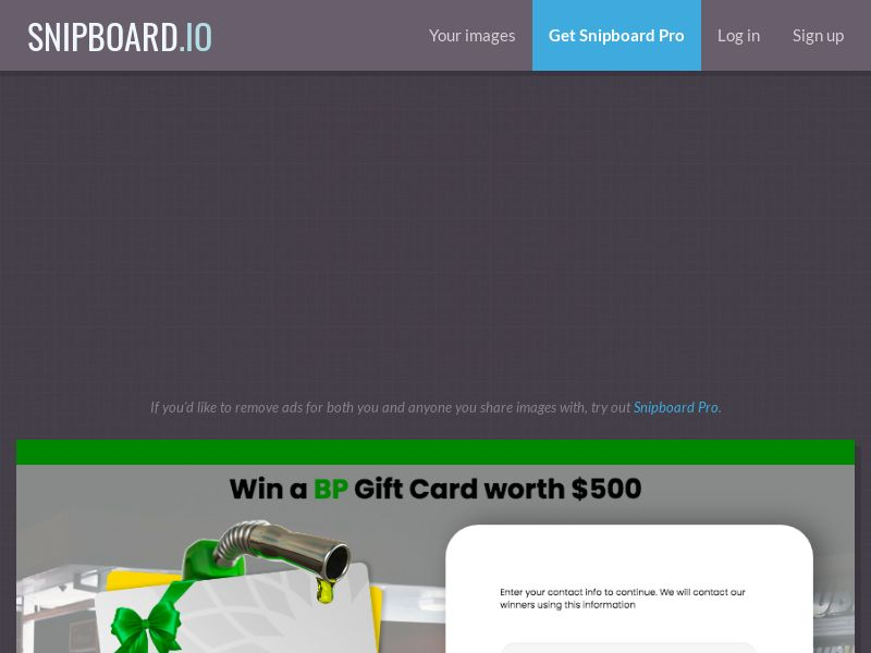 YouSweeps - Win a BP Giftcard US - SOI
