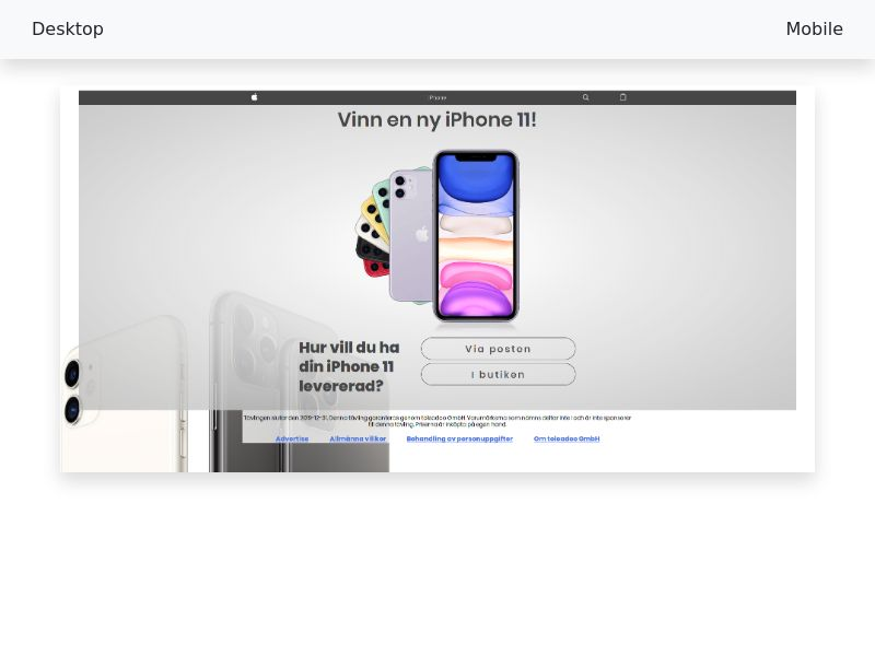 Sweepstake Win iPhone 11 - SOI CPL - [SE]