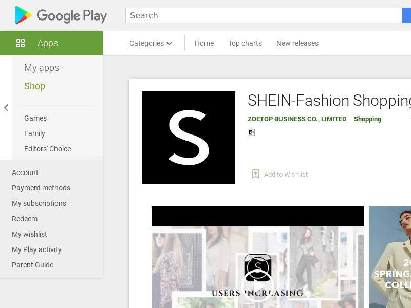 SHEIN-Fashion Shopping Online - SA Android (p) (hard kpi: RR>35%, P360 New Devices>90%)