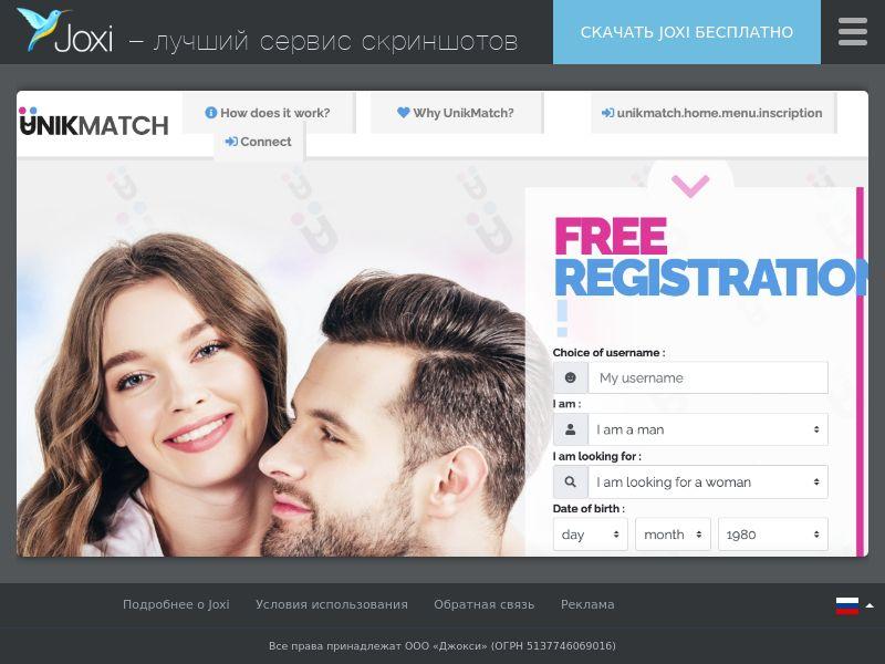 WEB/MOB UnikMatch.com CPT /FR