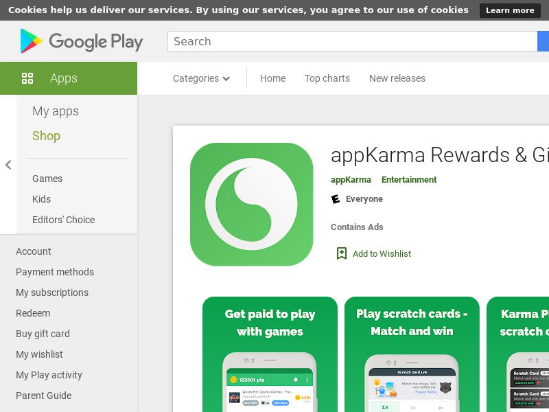 GB - appkarma (Android Free UK_CA_AU_NZ 23MB w/capping) CPA - - (SCAPI)
