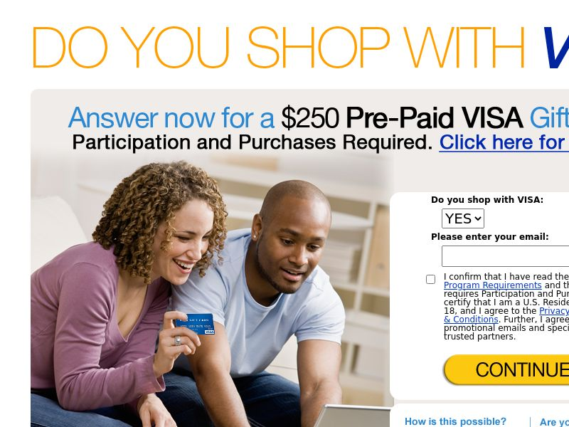 Black Friday / Cyber Monday $500 VISA Gift Card - Email Submit - Incent