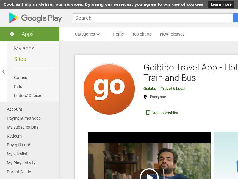 Goibibo - Flight Hotel Bus Car IRCTC Booking Android IN GAID