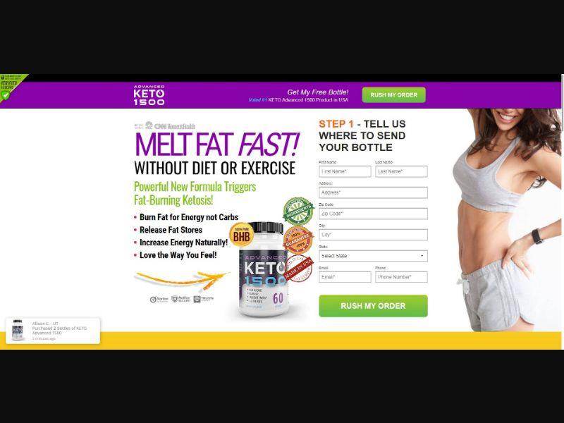 Advanced Keto 1500 - Diet & Weight Loss - SS - NO SEO - [US]