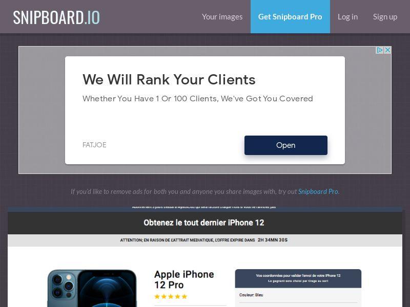 MyBoxClub - iPhone 12 FR/BE - CC Submit