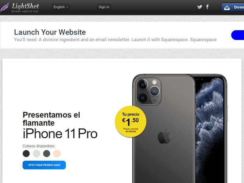 winlotsofthings iPhone 11 Pro (Sweepstake) (CC Trial) - Spain [ES]