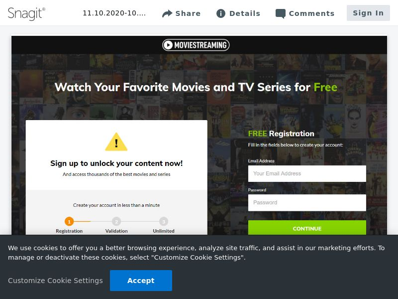 Movie Streaming Signup | FR,BE,CH