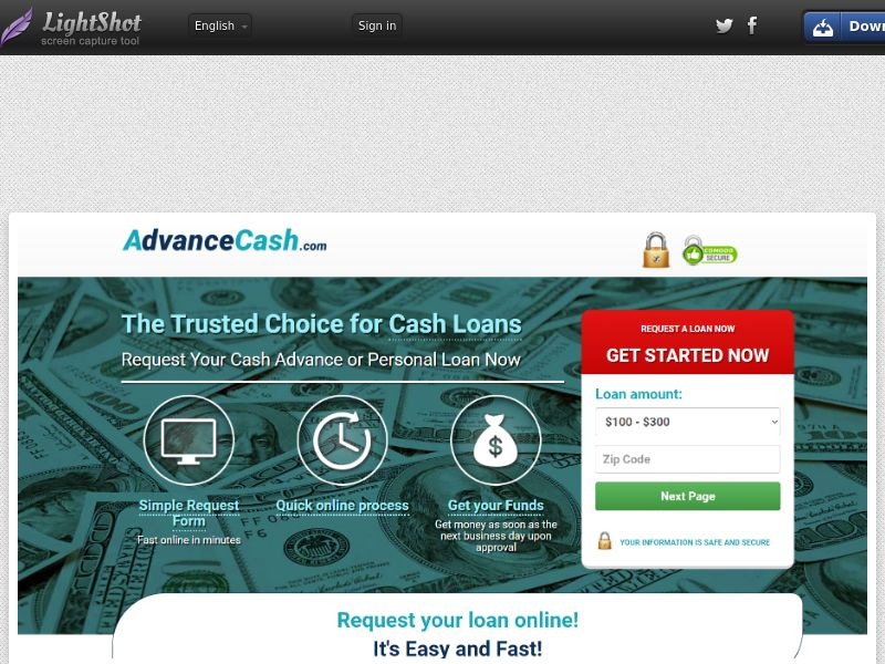Advance Cash (US) (CPL) (Personal Approval)