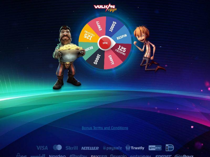 Vulkan Vegas Online Casino (Wheel) - NZ CA