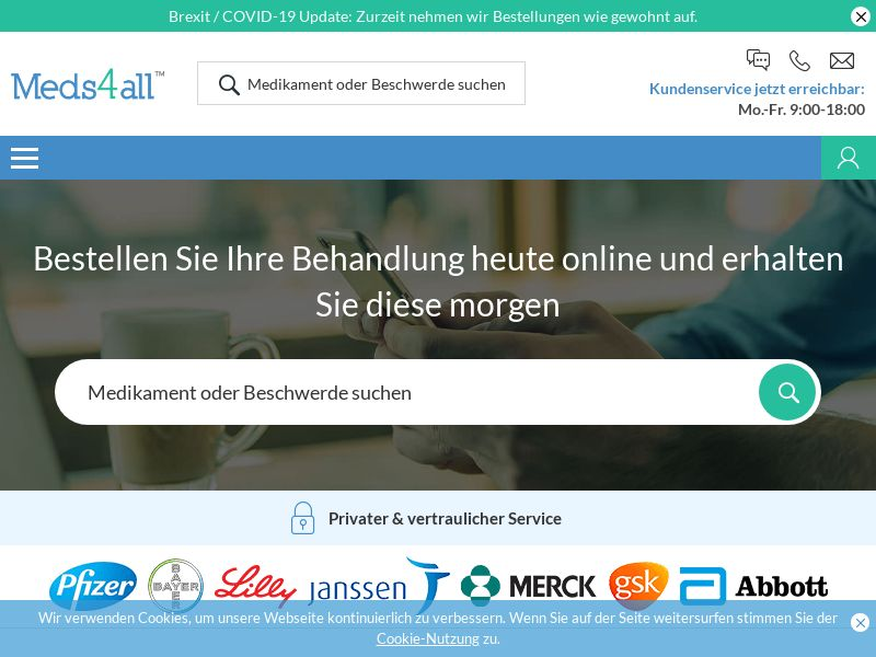 Meds4all | German & French Language Online Prescription Medication Pharmacy