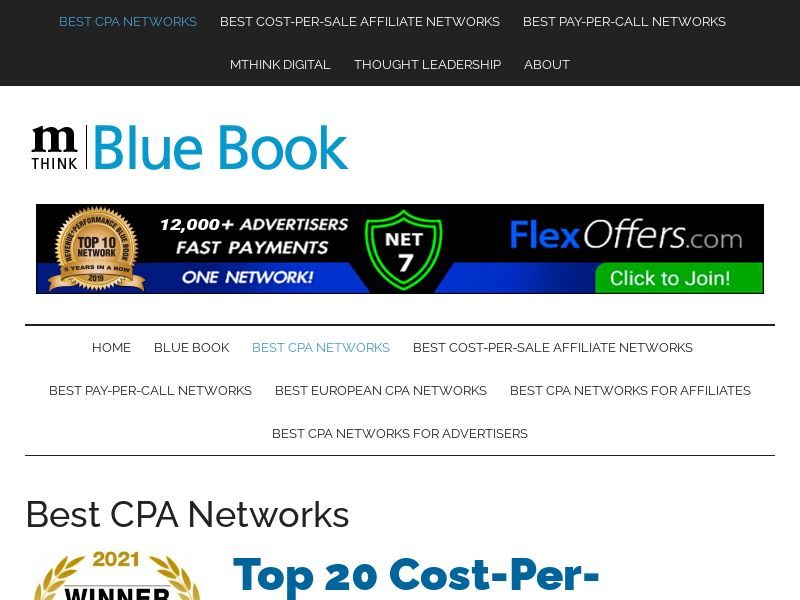 TOP 20 CPA NETWORK