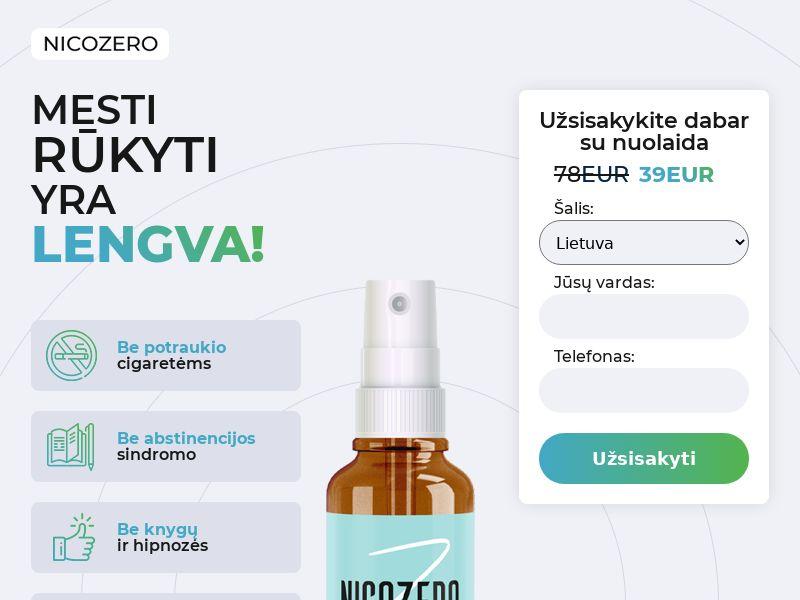 NicoZero LT - treatment for smoking