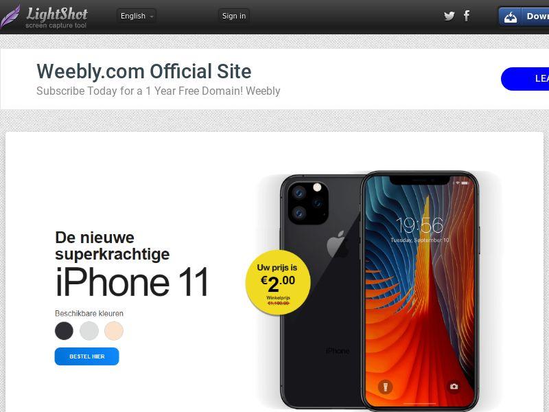 winlotsofthings iPhone 11 (Sweepstake) (CC Trial) - Belgium (BEnl)