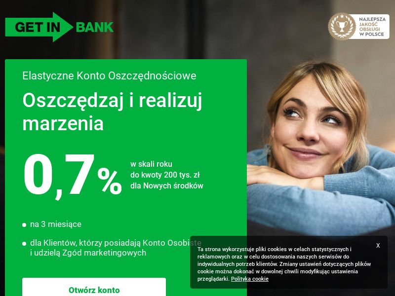 Getin Bank - Elastyczne Konto Oszczędnościowe 2,7% (PL), [CPA], Business, Account, Savings account, bank, finance