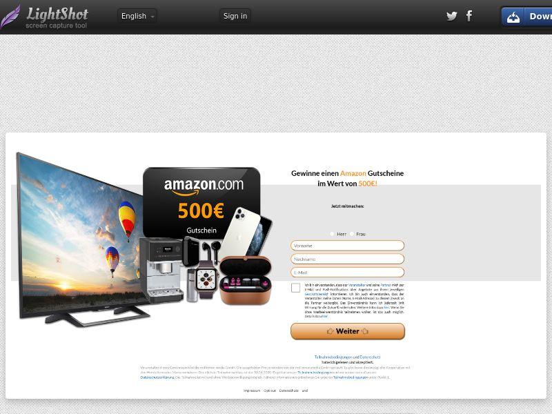 Win an €500 Amazon Voucher - CPL DE