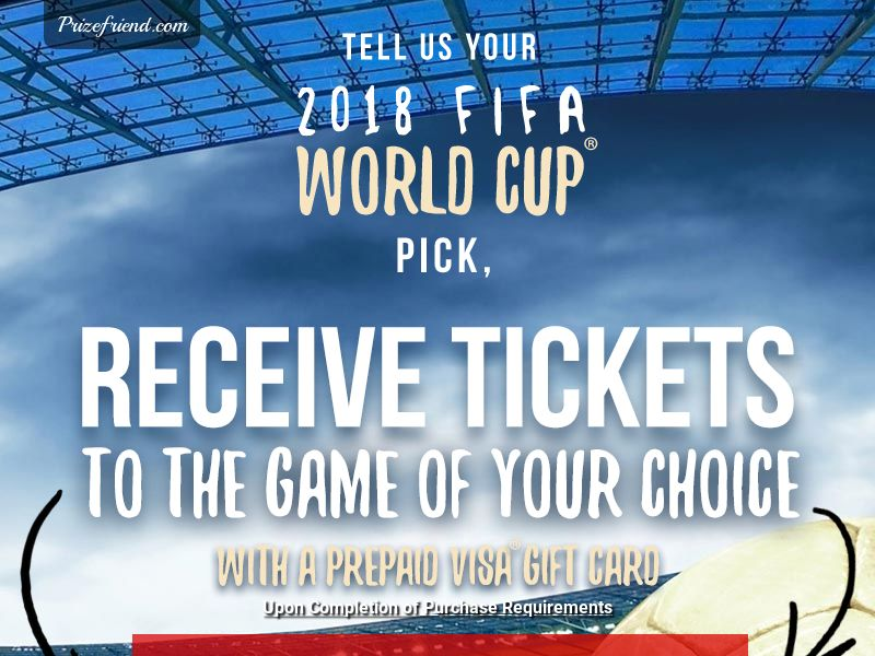 FIFA World Cup 2018 - Email Submit - Incent
