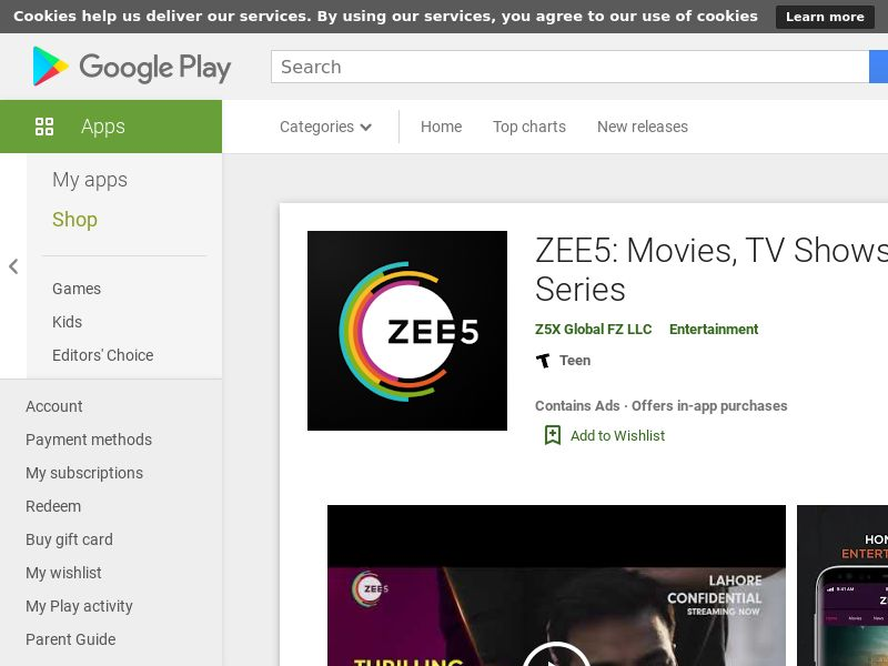 ! Zee5 Android IN