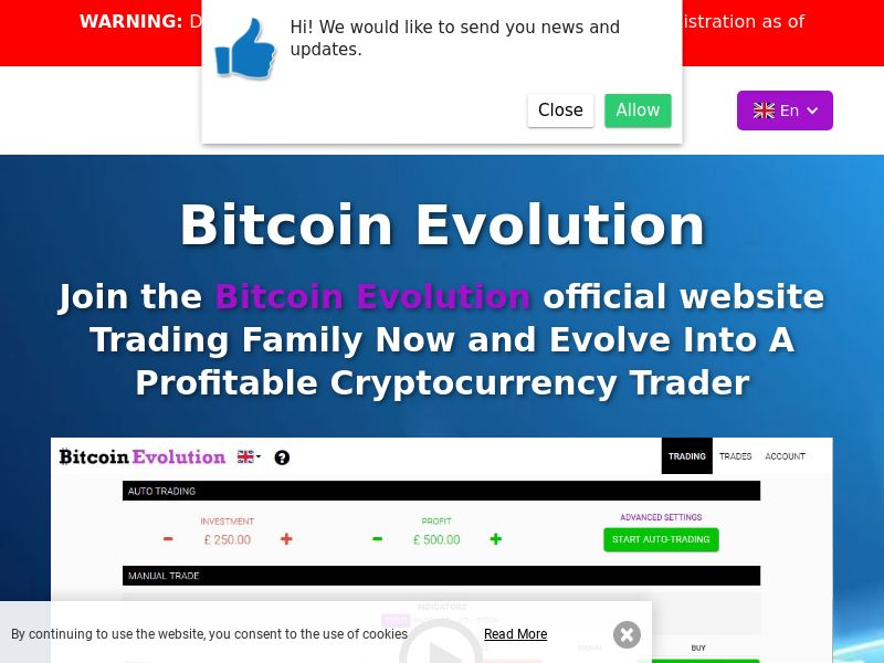 The Bitcoin Evolution - GB (GB), [CPA], Business, Investment platforms, Cryptocurrencies, Deposit Payment, bitcoin, cryptocurrency, finance, money