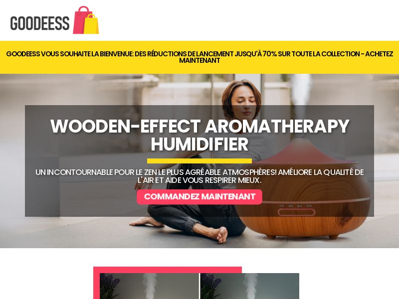 Wooden Aromatherapy Humidifier (FR) (SURVEY ALLOWED) (SMS ALLOWED)