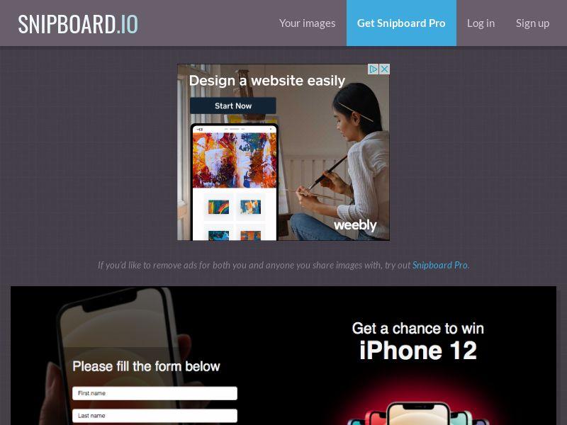 BigEntry - iPhone 12 v1 NZ - CC Submit