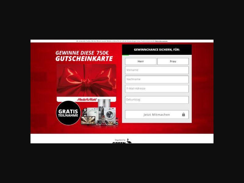 Win a 750€ Mediamarkt Gift Card (DE)