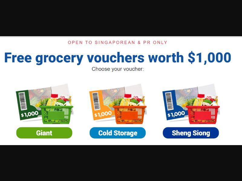 SG - Free grocery vouchers worth $1,000 [SG] - SOI registration
