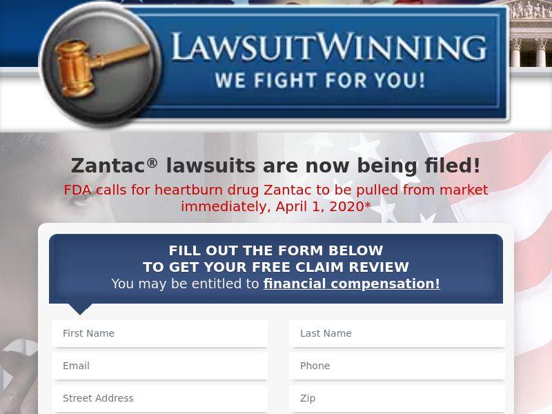 Lawsuit Winning - Zantac (US) (CPL) (Personal Approval)