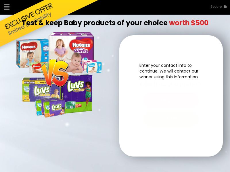 Test and Keep Baby Products CPL [US]