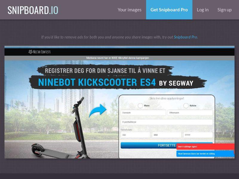 37889 - NO - NectarContests - Segway scooter (No Prelander) - SOI