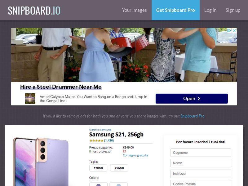 MagnificentPrize - Samsung Galaxy S21 IT - CC Submit