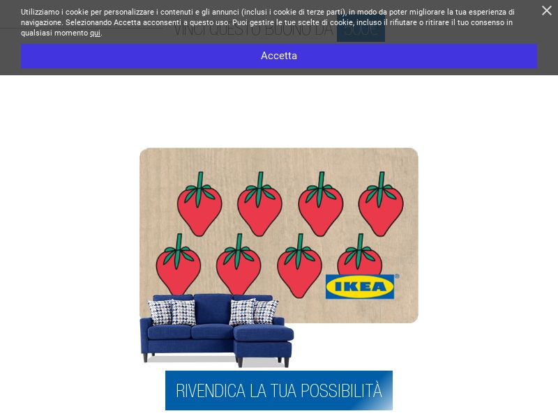 Ikea Voucher [IT] (Email,Native,Social,Banner,Push) - CPL
